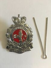 """Collectible Hong Kong Fire Service Large Chrome badge multi-color sz:1.4W""""x2.0H"""""""