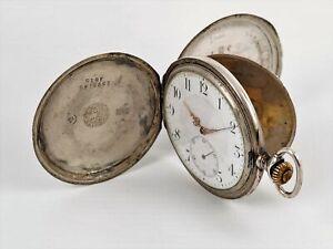ZENITH Taschenuhr Savonette 800er Silber Handaufzug Grand Prix Paris 1900