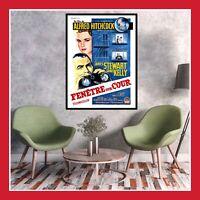 TOILE COTON AFFICHE CINEMA FILM POSTER PHOTO FENETRE SUR COUR HITCHCOCK 1954 DVD