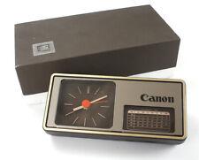 CANON DESK CLOCK, BOXED, CRACK IN CLOCK DISPLAY WINDOW/184109