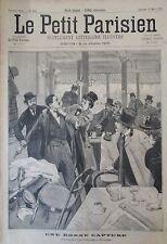 BELGIQUE BRUXELLES ARRESTATION ANARCHISTE SCHOUPPE GRAVURE PETIT PARISIEN 1893