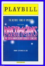 Playbill + Dreamgirls + One night only + Audra McDonald , Heather Headley, Orfeh