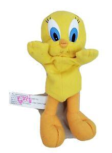 "Tweety Bird 7"" Laying Down Yellow Stuffed Animal Toy Looney Tunes"