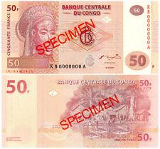 Congo Democratic Republic 50 Francs P#97s (2007) SPECIMEN Mint UNC