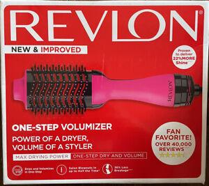 Revlon One Step Pink Hair Dryer Volumizer Max Drying Power Brush