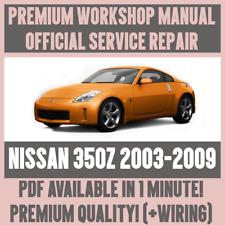 >workshop manual service & repair guide for nissan 350z 2003-2009 +wiring  >