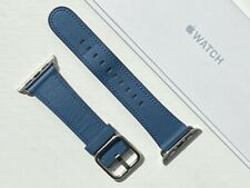 Apple Watch Leather Classic Buckle Strap 38/40mm COSMOS BLUE **RARE**