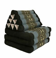 Thai Three Fold Triangular Cushion - Black and Grey