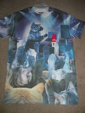 NEW KITTY CAT DJ MEOW SPINS IT'S A PARTY PAWS UP MENS SM 34/36 BLUES TSHIRT NWT
