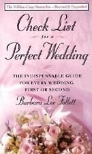 Check List for a Perfect Wedding by Follett, Barbara