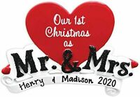 Personalized MR & MRS COUPLE Christmas Hanging Tree Ornament HOLIDAY GIFT 2020