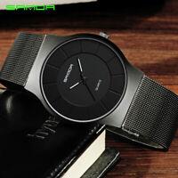 Men's Women's Fashion Casual Ultra Thin Minimalism Waterproof Quartz Wrist Watch