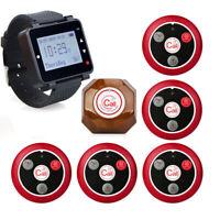 Retekess Restaurant Kitchen Server Calling Wrist Watch Pager System 999CH 433MHz