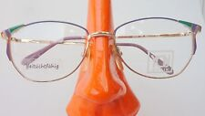 Schmetterlings Brille gold lila grün Metall Gestell eyewear glasses Frauen sizeL