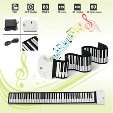 88 Keys Roll Up Electric Piano Keyboard USB MIDI Kids Gift Portable Foldable