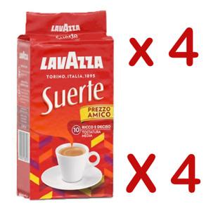 4 x LAVAZZA Suerte 250g Coffee ground Italian espresso caffè