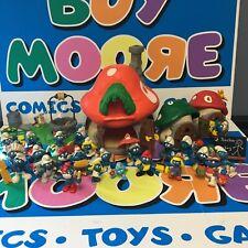 1980 Smurfs Village Figures Lot Schleich