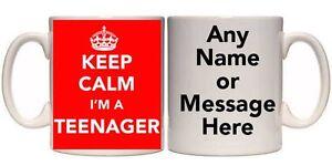 KEEP CALM I'M A TEENAGER PERSONALISED MUG (R18) 11oz & 15oz GIFT