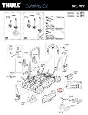 Matrícula soporte 920/921 para euroway bicicleta portador Heck