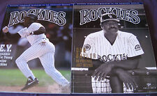 Colorado Rockies Game Program Lot of 2 1993 Official Scorecard Magazine