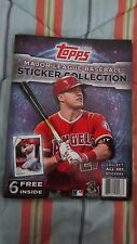 2017 Topps Baseball Collector's Stickers ALBUM, MIKE TROUT COVER, w/6 STICKERS