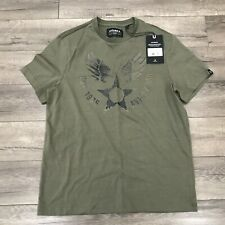 New Avirex Wingstar Crew Neck Short Sleeve T-Shirt Mens Medium OIive AVF19BT02