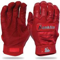 Franklin Sports MLB CFX Pro Full Chrome Baseball Batting Gloves Red