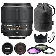 Nikon AF-S NIKKOR 35mm f/1.8G Lente + Kit de accesorios de lujo ED