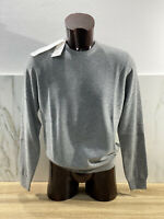 Pull Homme Heritage Col 100% Cachemire Luxury Made IN Italy
