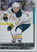 2018-19 Upper Deck #453 Casey Mittelstadt YOUNG GUNS: Buffalo Sabres