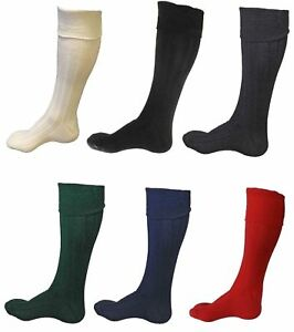 New Scottish Irish  Kilt Hose Socks Men Sporrans Flashes In 7 Colors