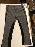 NWT north face capri pants Sz Small Black Heather/ Black