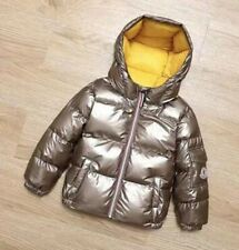 New winter space silver bronzing children's boys and girls down jacket