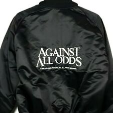 Against All Odds Satin Bomber Jacket Vintage 80s 1984 Movie Promo Made In USA XL