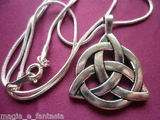 Triscele Triquetra Trischele Nodo Celtic Wicca Pagan Witch + necklace/collana