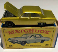Matchbox Lesney No 36 Opel Diplomat, mint condition and box