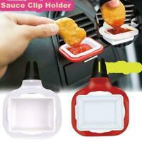 2pcs Saucemoto Dip Clip An in-car Sauce Holder For Ketchup & Sauces Dipping P5W1