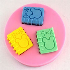 FD2348 Mouse Book Silicone Baking Mould Cake Chocolate Soap Candle Mold Craft