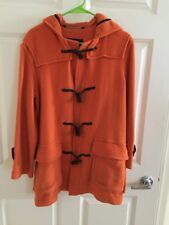 Womens Burberry London Wool Hooded Duffle Coat Jacket Size 6 Small