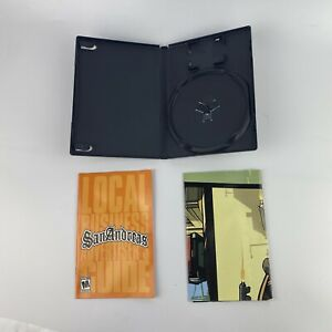 Grand Theft Auto San Andreas PS2 Replacement Case MAP & Manual *No Game Disc*