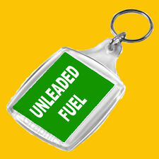 Personal Fuel Reminder Keyring  For  UNLEADED  Fuel ( Green with White Text)