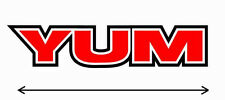 """12"""" YUM High Quality Decal Sticker Tackle Box Lures Fishing Boat Truck Baits"""