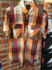 New KTM Checkered Button-up Short Sleeve Shirt Size Large 3PW136684