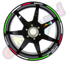 BIKE RIM WHEEL STRIPES ITALIA FOR  DUCATI BIKES  strip sticker tuning racing
