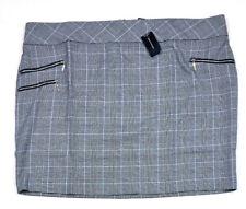 4386fd3b2c175 Ashley Stewart ZIPPER Plaid Print Mini Skirt Black/ White Size 26