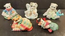 Calico Kittens Lot Of 5 Collectible Figurines