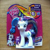 "My Little Pony RARITY Friendship is Magic RAINBOW POWER Hasbro 3"" MLP Unicorn"