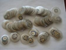 250 + hunter style glass pocket watch crystals -15 sizes & 25 open face crystals