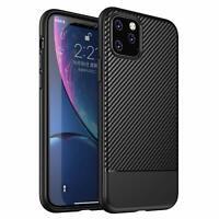 Hülle iPhone 11 / Pro / Max Case Carbonfaser Silikon Carbon Fiber Schutzhülle