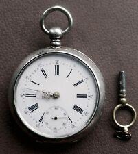 Alte Taschenuhr, mit Schlüsselaufzug, läuft nicht, Herst. VICTORIA 800 Silber